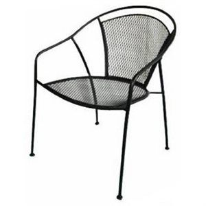 High Quality Woodard Cm Uptown, Steel Mesh Bistro Chair, Textured Black Finish, Bistro  Chair Stands Tall U0026 Has A Oval Shape For Added Design U0026 Comfort, Standard  Size ...