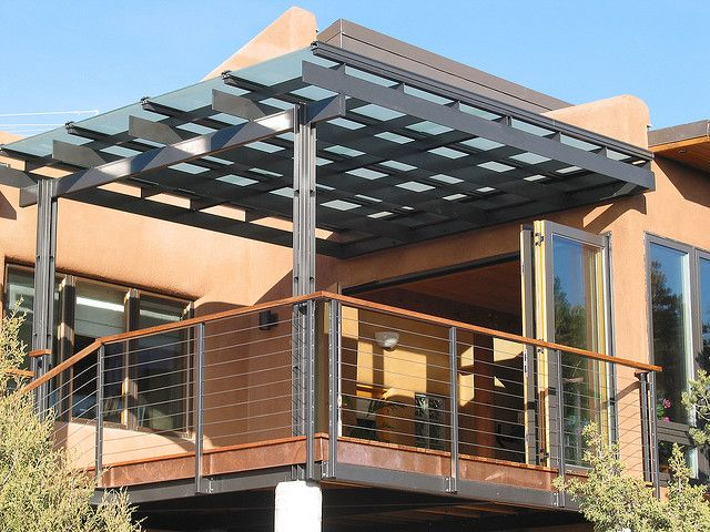 green home by zeroEdesign, via Flickr. Love the combination of materials to create this open (but still private) space.