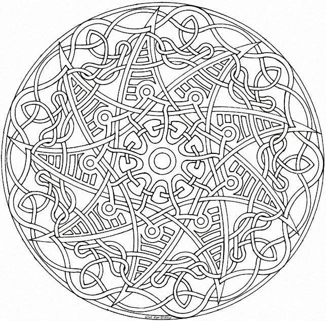 Tangled Mandala узоры кельтские Pinterest Coloring