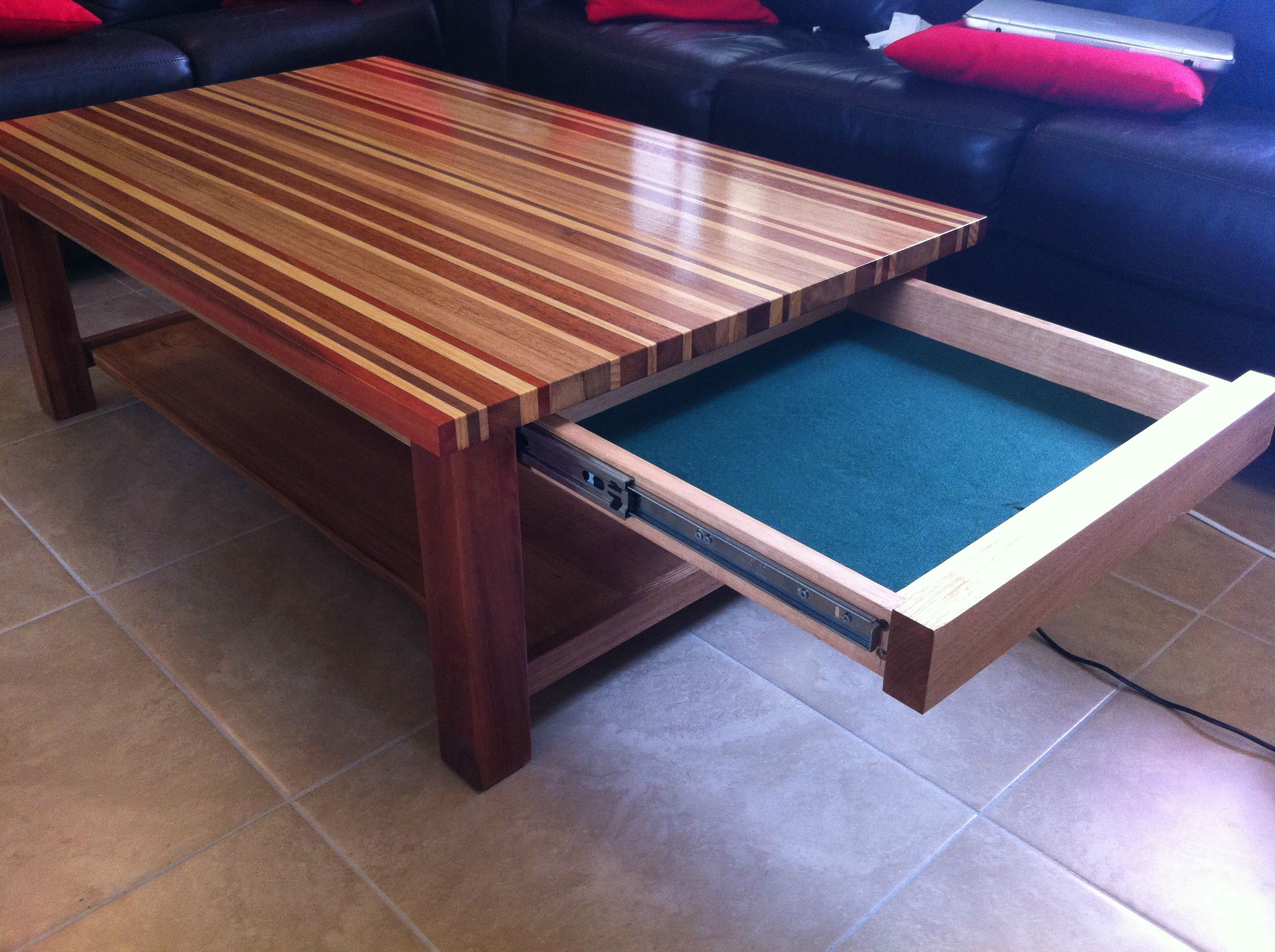 Coffee Table Sliding Drawerswood