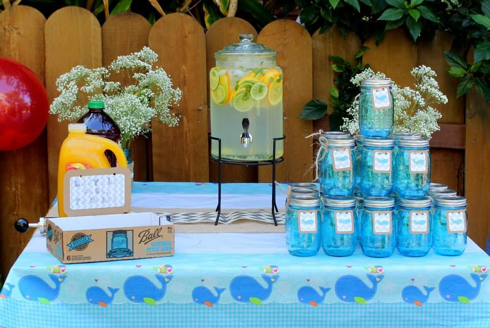 baby whale baby shower beverage table baby shower ideas pinterest
