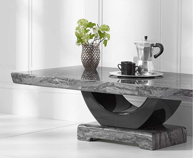 Raphael Dark Grey Marble Coffee Table Oak Furniture Living Room Table Decor Living Room Living Room Decor Ikea
