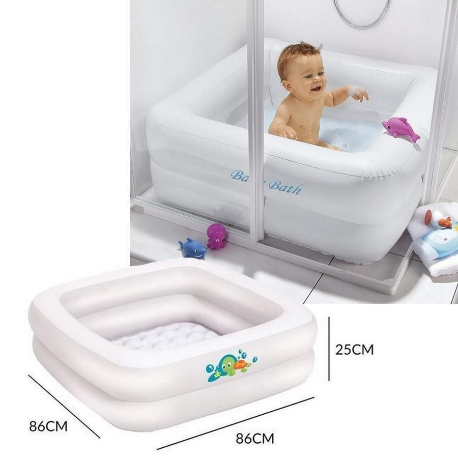 Baignoire Gonflable Pour Bain De Bebe 0 A 3 Ans 86cm X 86 Cm X