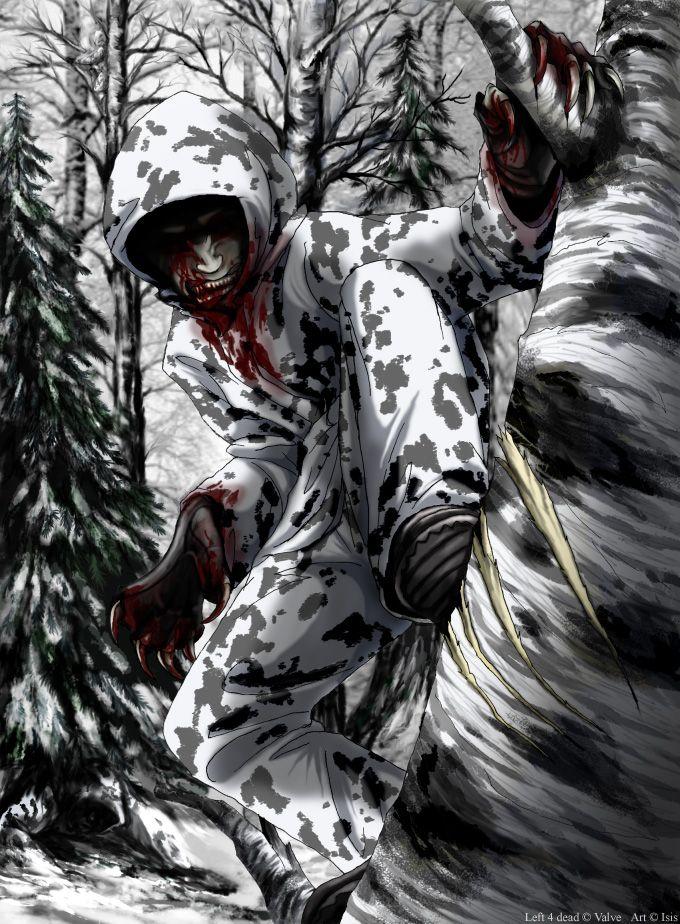 L4d Winter Hunter By Isismasshiro Deviantart Com On Deviantart Left 4 Dead Dead Zombie