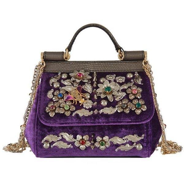 39f8dd8ebe69 Dolce   Gabbana Mini Sicily Embellished Top Handle Bag ( 2