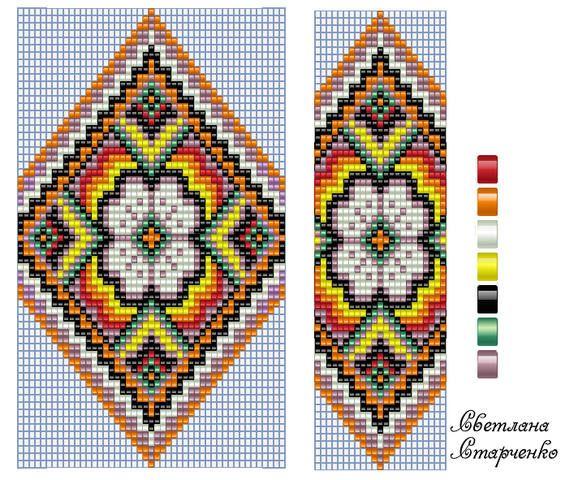 Гердан схема два цвета