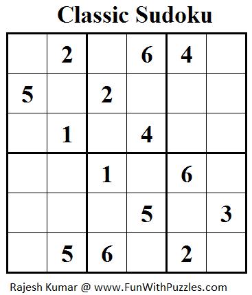 Classic Sudoku (Mini Sudoku Series #29) | Printable Puzzles
