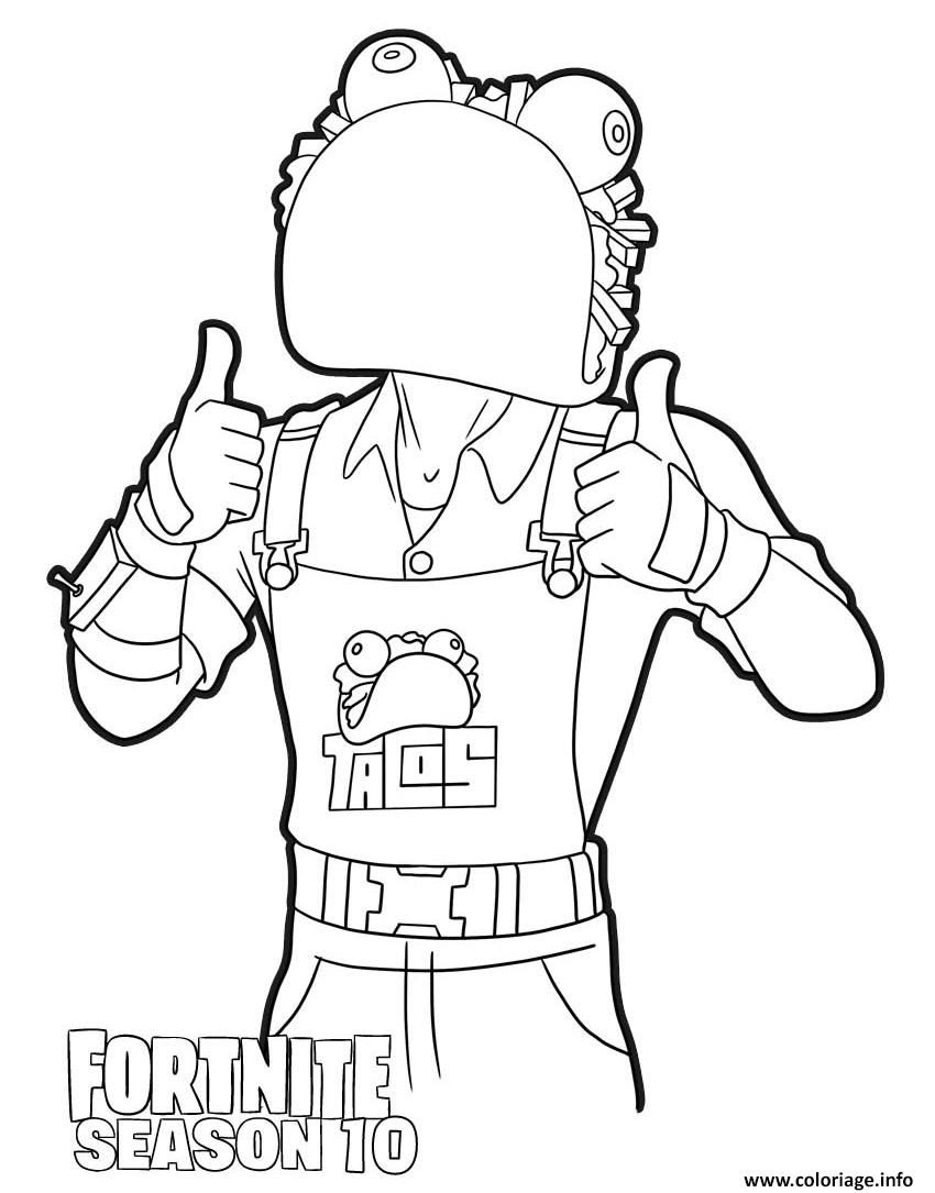 Coloriage Guaco from Fortnite season 10 à imprimer в 2020 г.