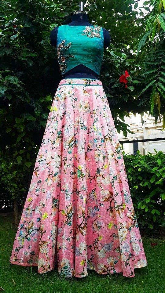 ce01e93e1a floral lehenga for an outdoor reception or an Indian wedding event #lehenga  #indianwedding