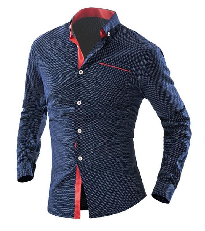 Long-Sleeve Men's Fashion Business Dress Shirt L-2XL 6 Colors ...