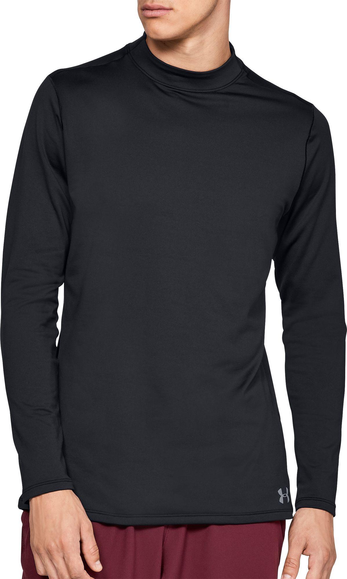 a2975fcf5 Under Armour Men's ColdGear Armour Mock Neck Compression Long Sleeve Shirt,  Size: 3XT, Black