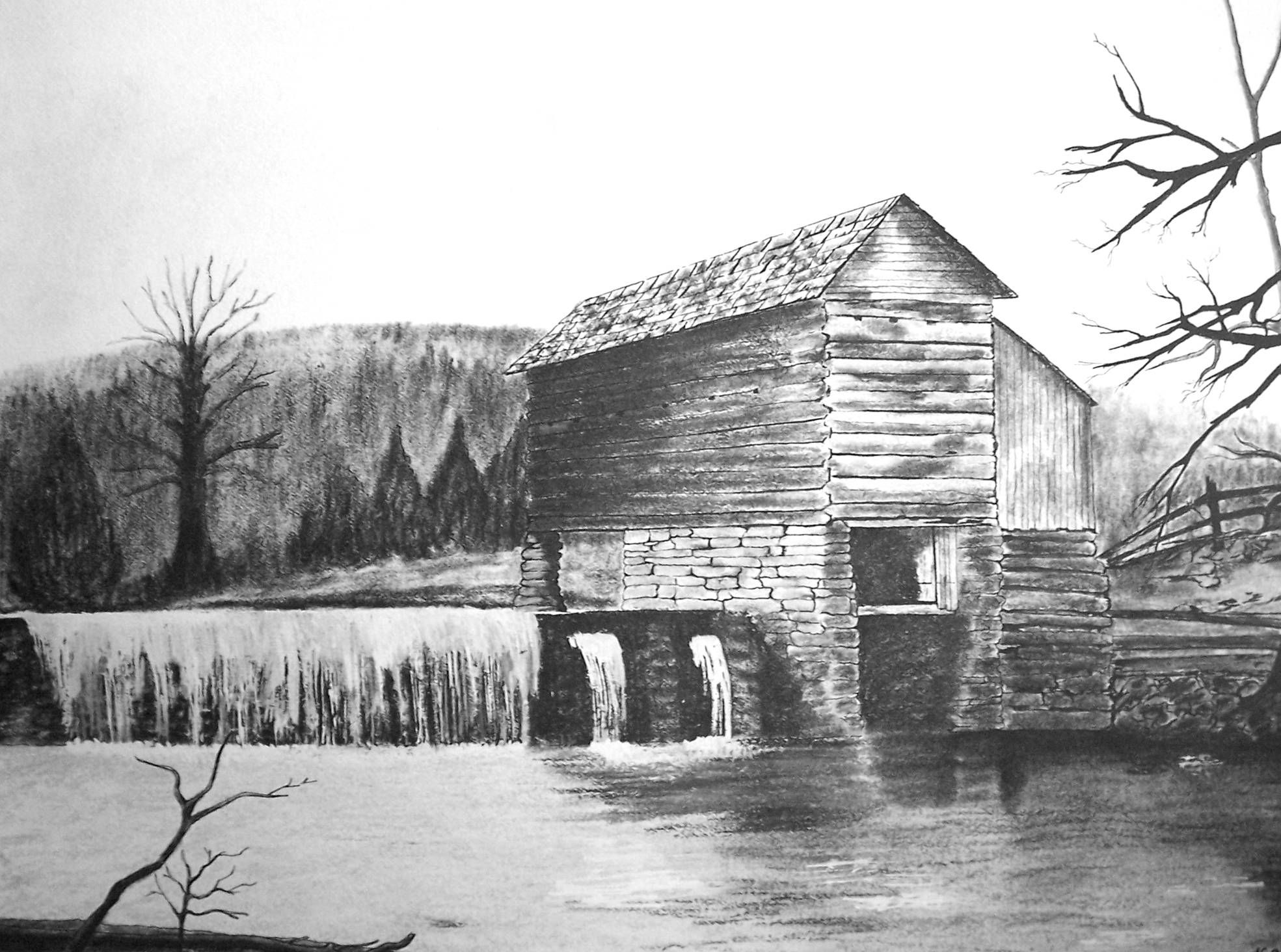 Adkins-Hurt Mill in Wayne County, Kentucky    Places across