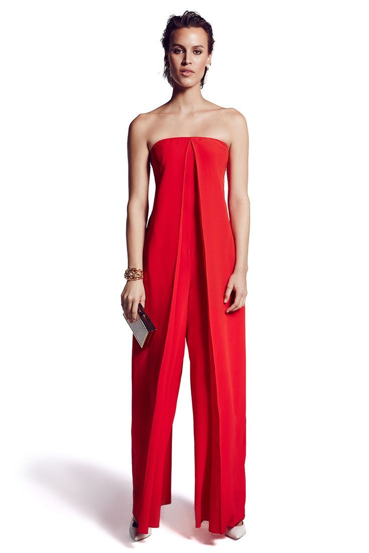 Red Formal Jumpsuit | Fashion Ql