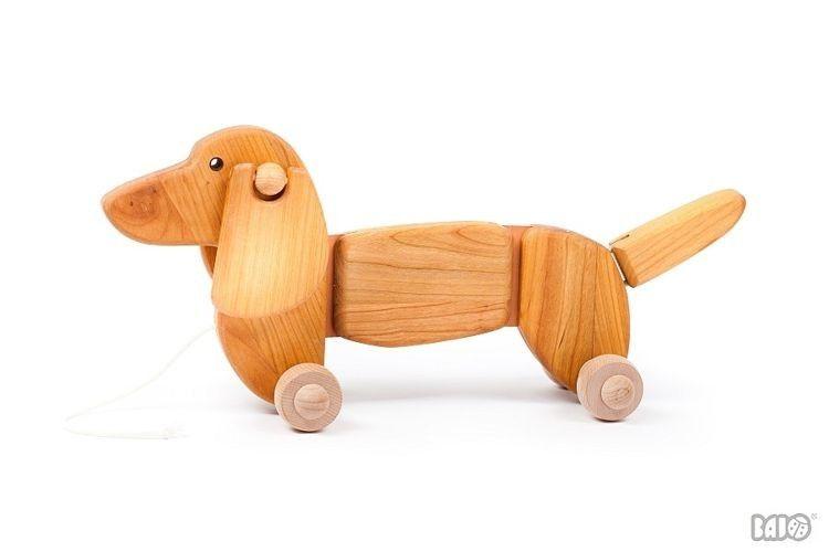 Brazowy Jamnik 21120 Bajo Zabawki Na Sznurku Pull Along Toys Dachshund Puppy Toys