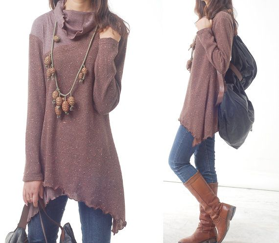 Face  layered woolen tunic dress Y1221 by idea2lifestyle on Etsy, $75.00