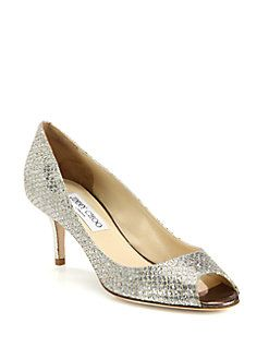 cheap get to buy Jimmy Choo Isabel Glitter Peep-Toe Pumps 100% authentic cheap price cheap sale supply outlet with paypal XF1JYSxp