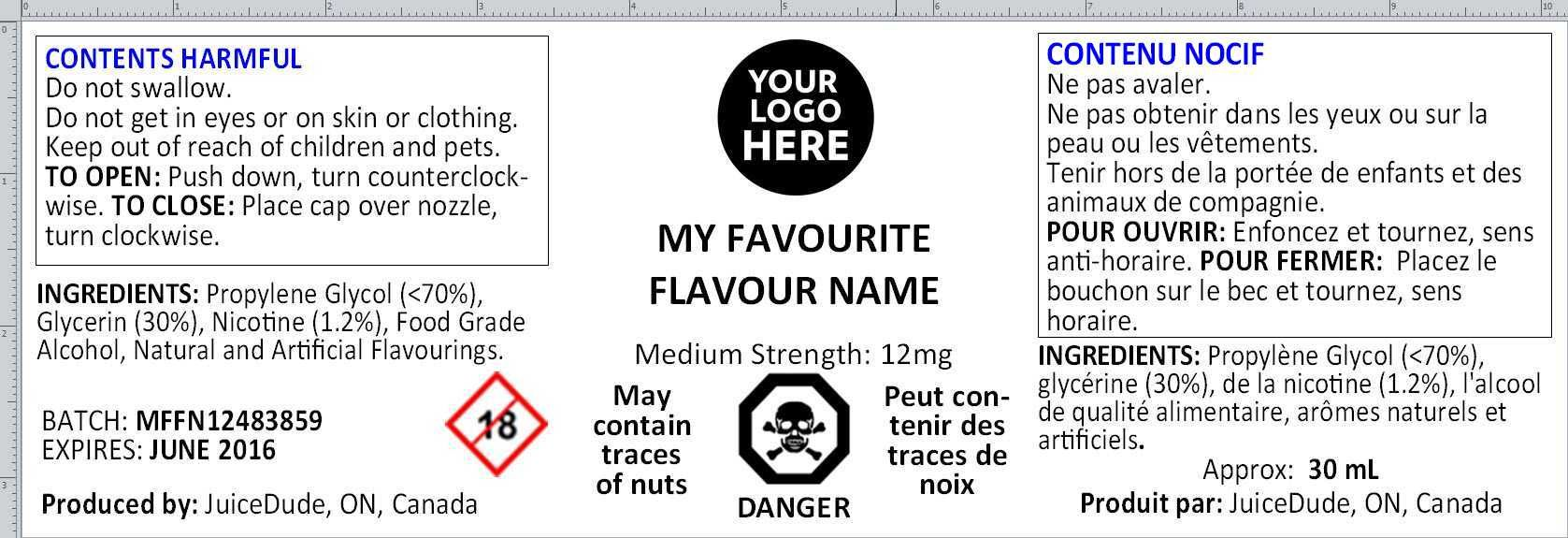 Label Layout Defined CCCR 2001 | ejuice safety | Puzzle