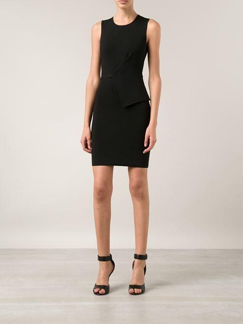 ALEXANDER WANG asymmetric fold compact dress