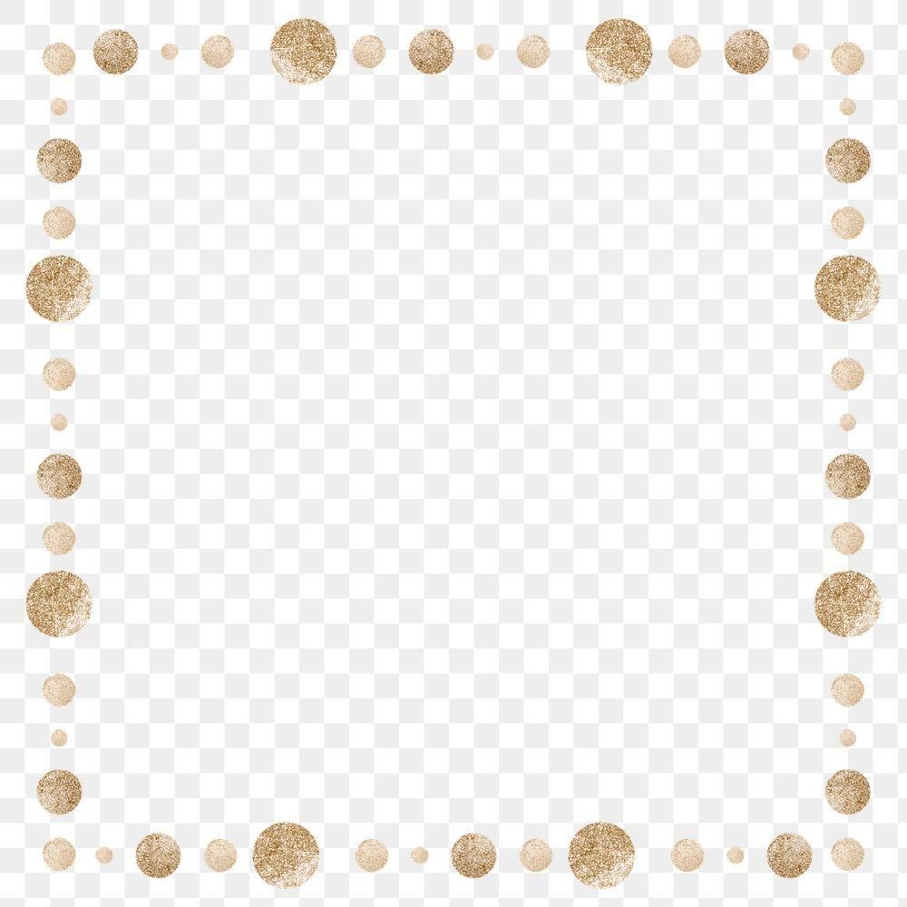 Gold Dot Patterned Frame Design Element Free Image By Rawpixel Com Adj Frame Design Design Element Gold Dots