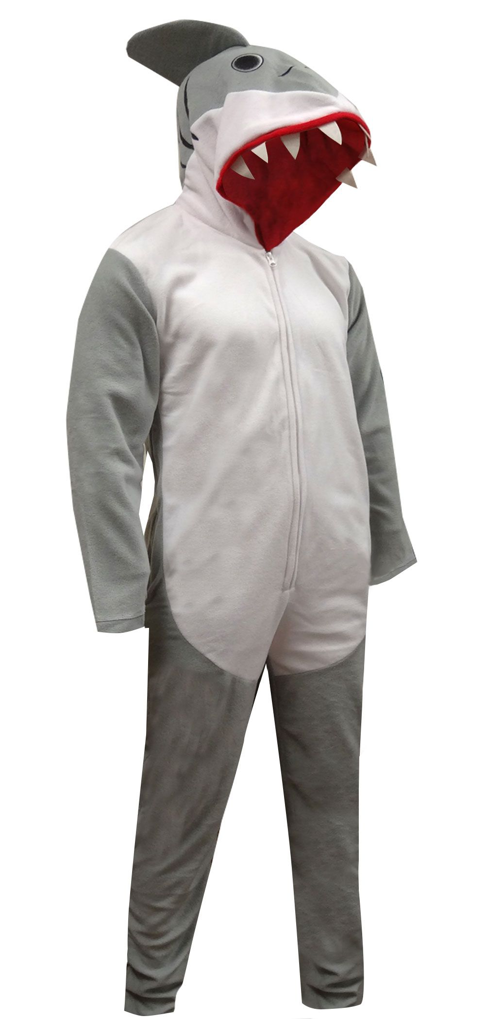 This is the coolest union suit we have had in a long time! These one piece  pajamas for men are designed to look just like a shark and were made in ... af656a9a0