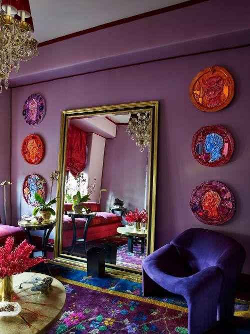 Deco A L Esprit Boudoir Du Violet Et Du Rouge En Vedette