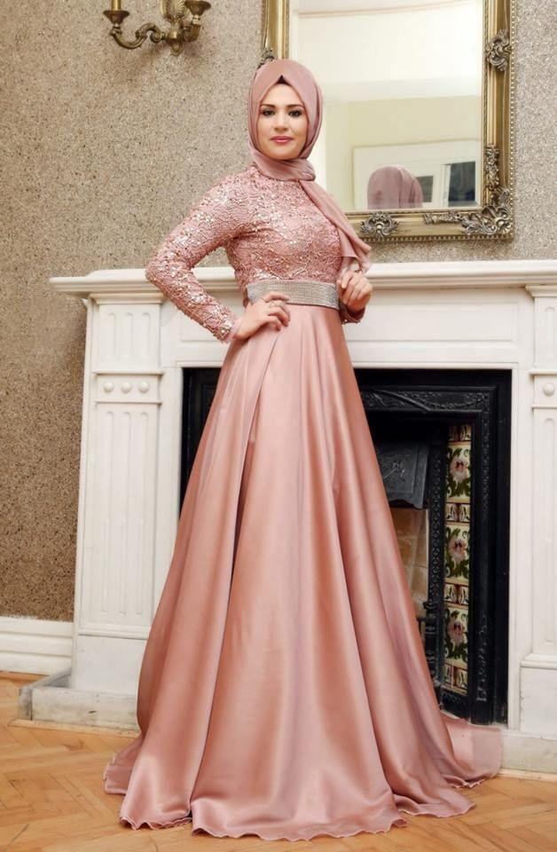 Pembe tesettür elbise modelleri | Clothes | Pinterest | Moda ...
