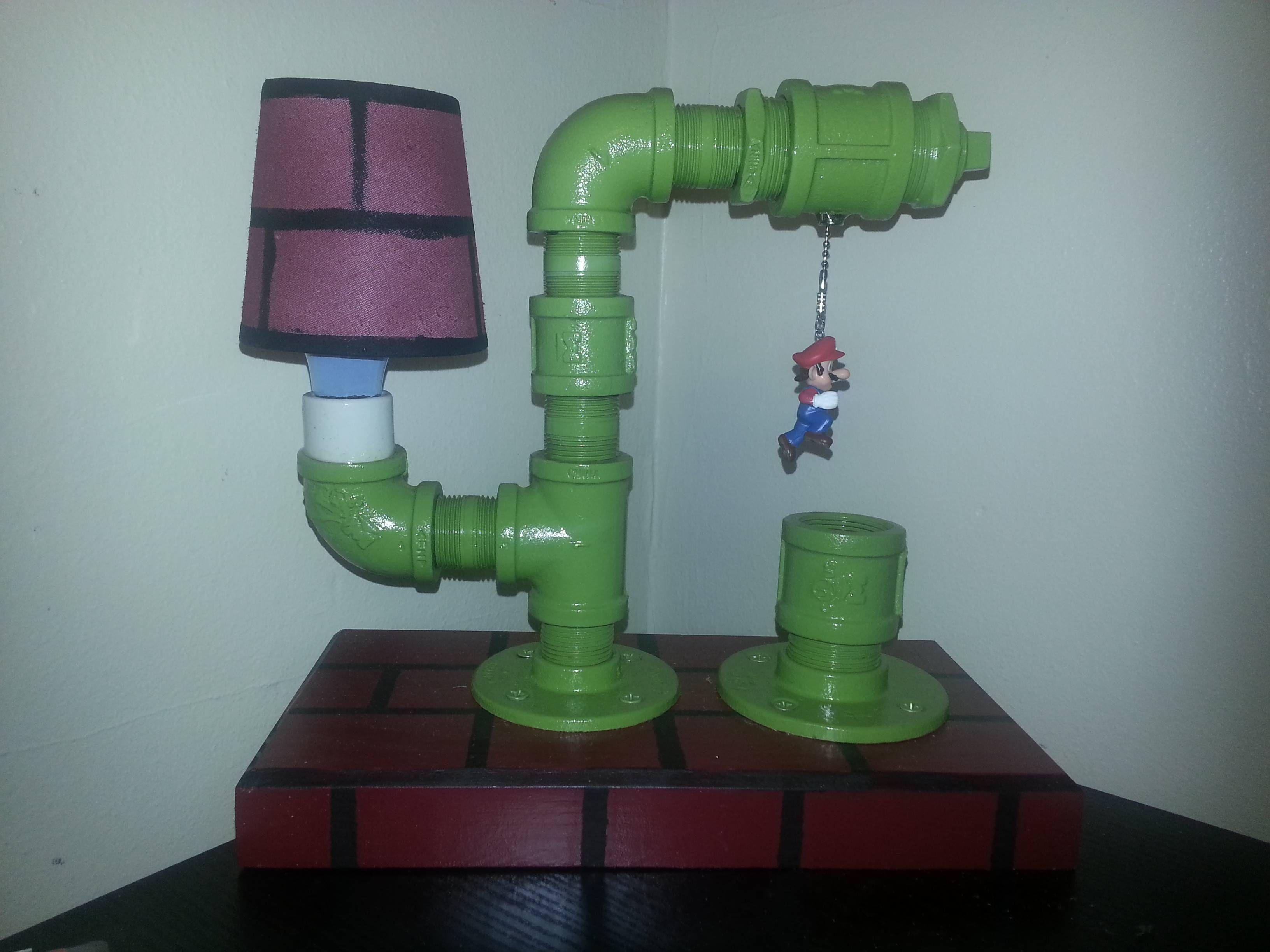 Funny Lamps reddit user _drugs_'s mario lamp   nintendo   pinterest   mario