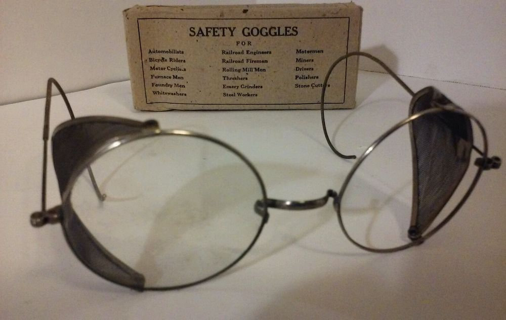 Vintage S.P.A. Clear, Safety Glasses Mesh Side Shields, w