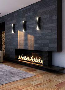 Dye loft dise os y estilos loft chimeneas for Lenos a gas modernos