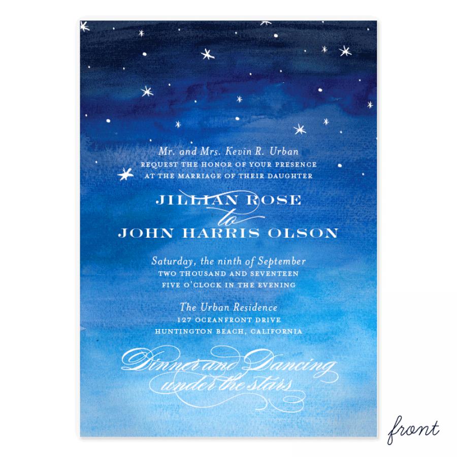 Blog Starry Night Wedding Invitation Smitten