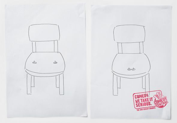 "Comedy Central: Chair ""Comedy. We take it serious."" (by kempertrautmann, Hamburg, Germany)"