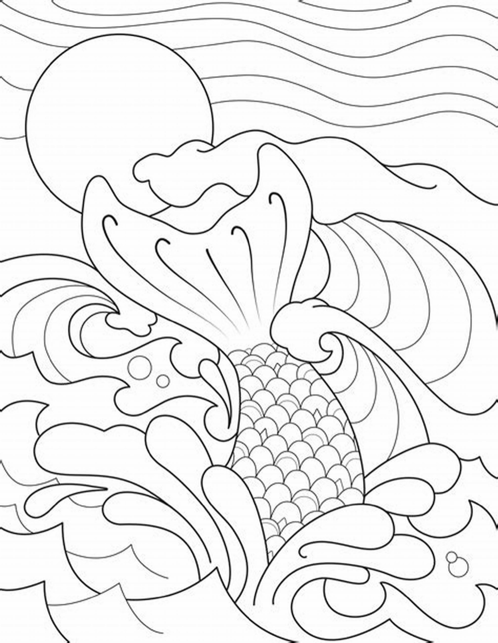 Mermaid Tail Coloring Page For Adults K5 Worksheets Mermaid Coloring Pages Halloween Coloring Pages Printable Free Halloween Coloring Pages
