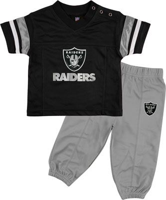 9b5c29793ab Oakland Raiders Infant Short Sleeve Football Jersey   Pant Set ...