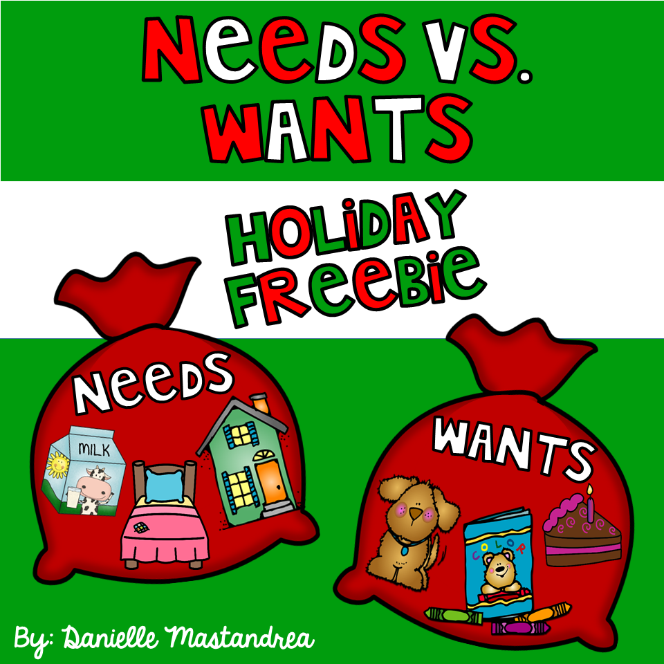 Needs and Wants Christmas Holiday FREEBIE! Includes sorting cards ...