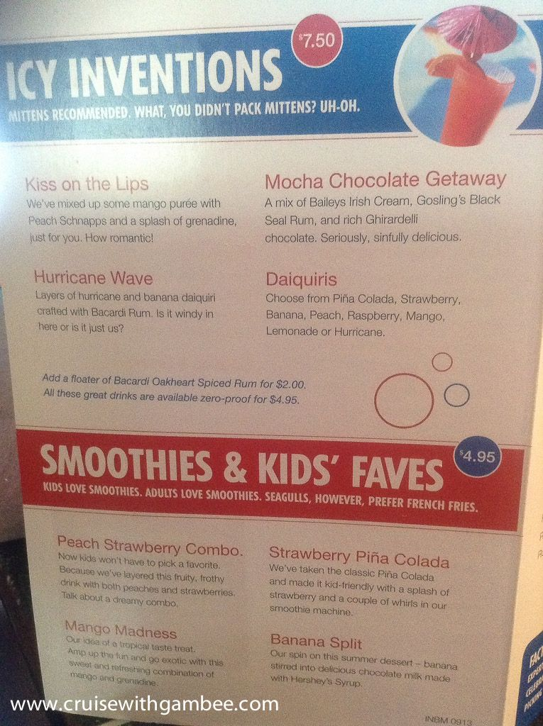 Carnival Cruise Drink Prices Cruise With Gambee Travel