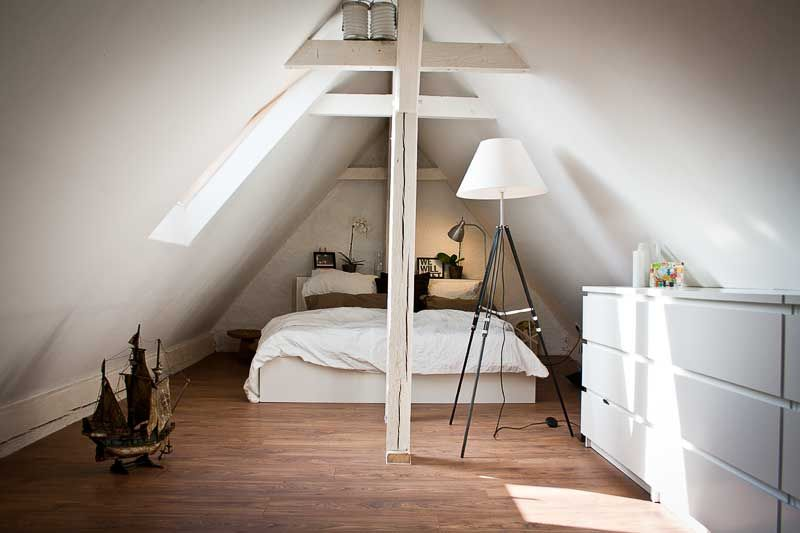 Dachstuhl   Schlafzimmer Dachstuhl, Schlafzimmer und Dachboden - dachgeschoss ausbauen tolle idee wie sie den platz nutzen konnen