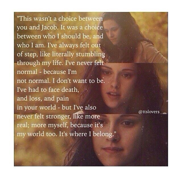 Bella S Speech To Edward Eclipse Ttslovers Twilight Quotes