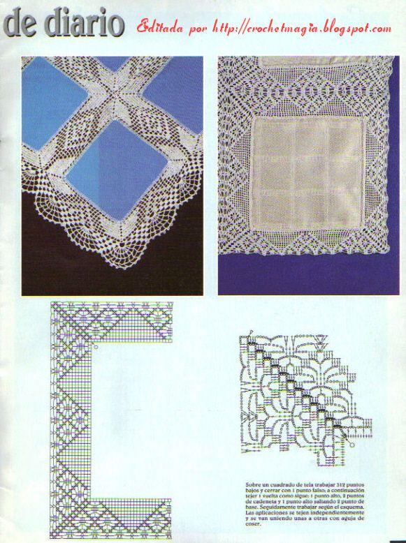 mantelesdiario2.jpg] | crochet varios | Pinterest | Mantel ...