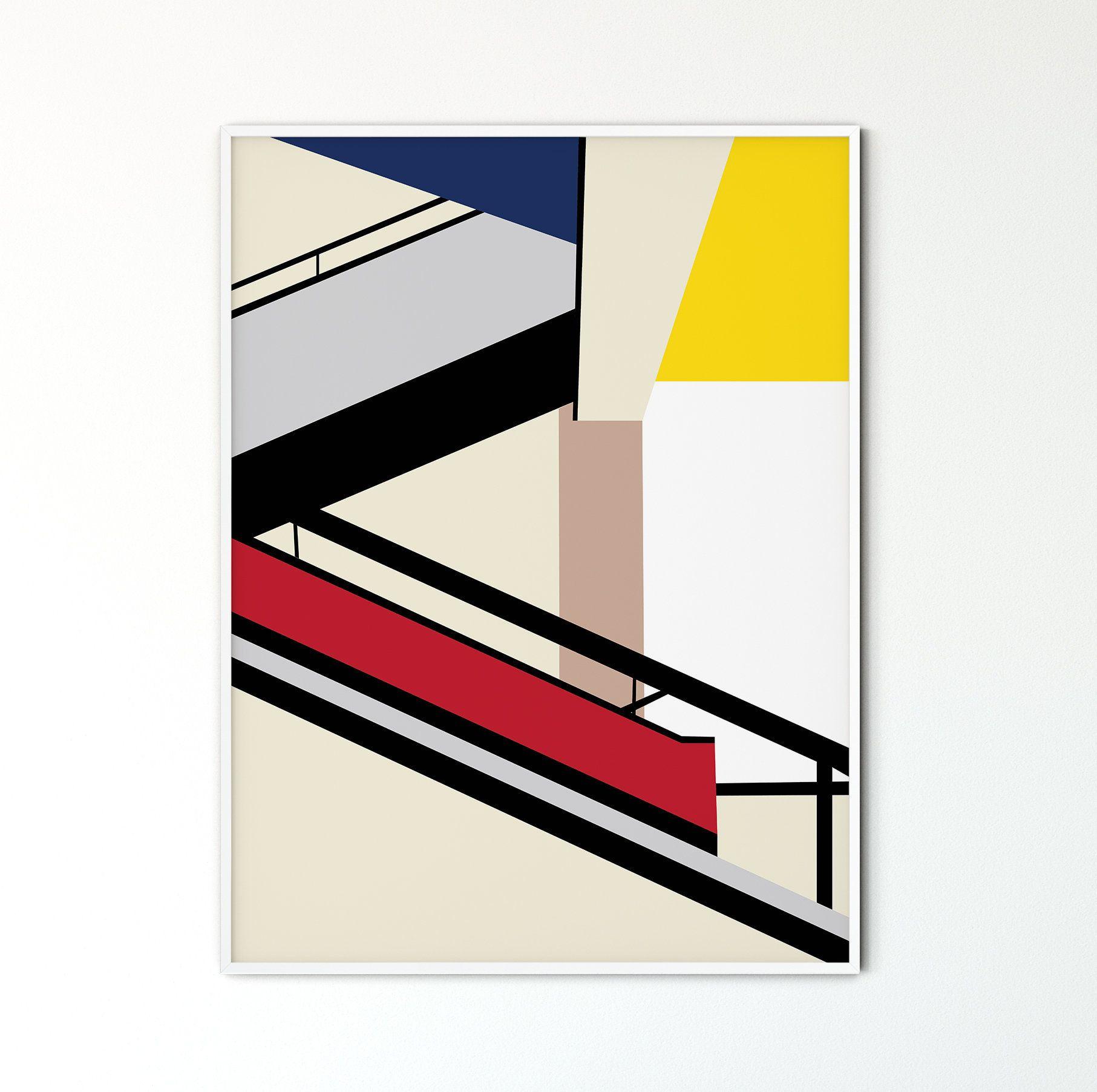 Bauhaus Design Forms #1526 Minimalist Geometric Wall Decor Instant Printable