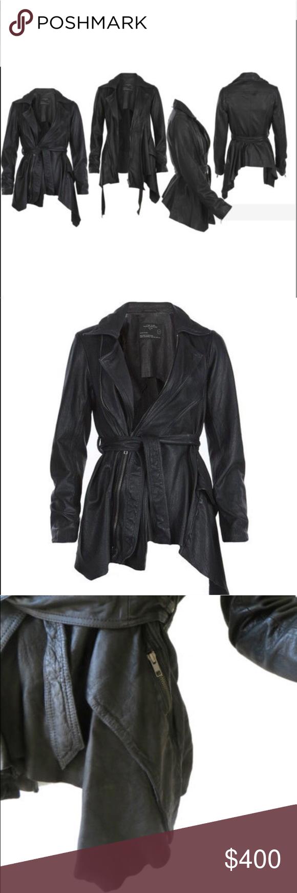 All Saints Netia Asymmetrical Jacket UK Size 8