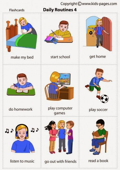 Kids Pages - Daily Routines 4