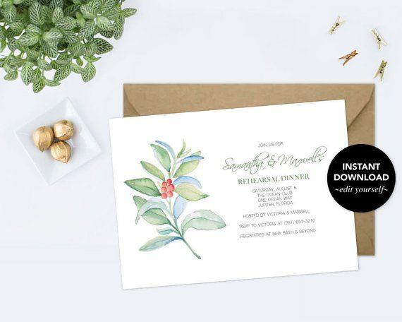 REHEARSAL DINNER INVITATION, Dinner Party Invite Template pdf