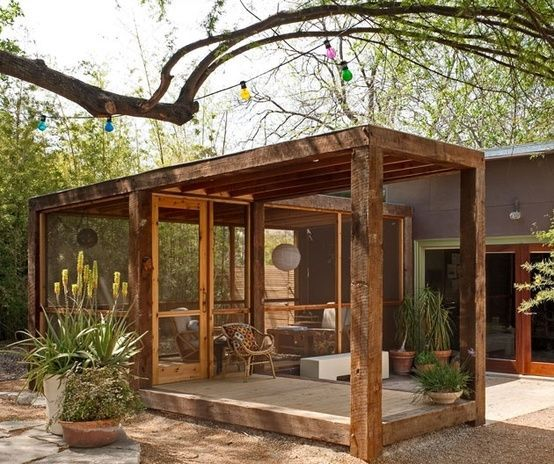 191 Best Covered Patios Images On Pinterest: Detached Screen Porch. By Frieda