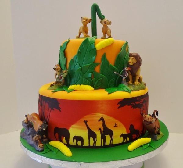 Lion King Birthday Cake Ideas Birthday Party Stuff Pinterest - Lion birthday cake design