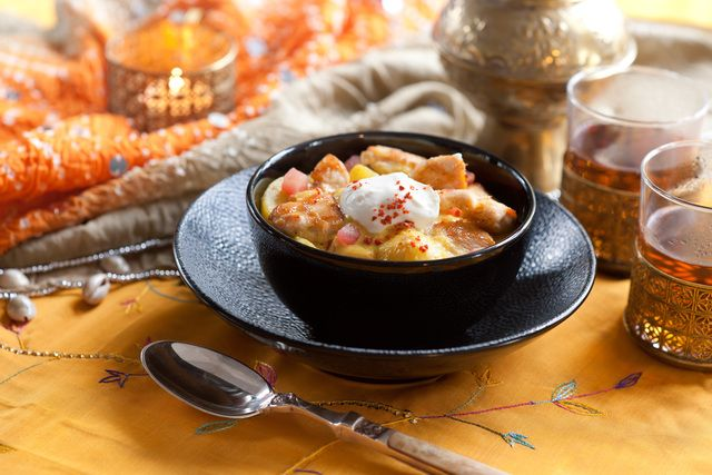 Hühnchen mit Joghurt und Curry