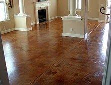 Terra Cotta, Molted Concrete Floors AFS Creative Finishes Sacramento, CA