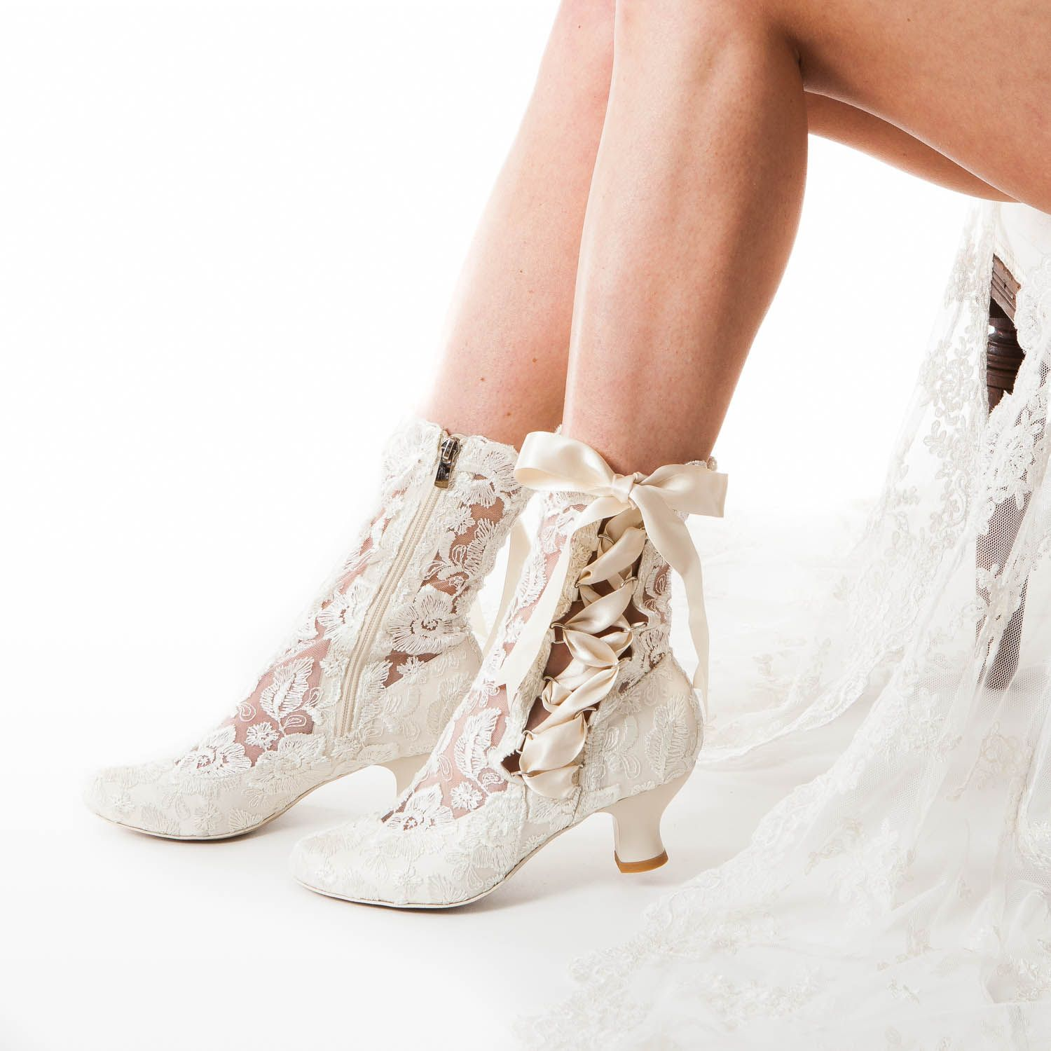 House Of Elliot Lizzie Victorian Inspired Lace Wedding Boots By Original