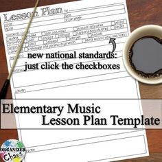 FREE Lesson Plan Template For PK General Music Based On The New - Fillable lesson plan template