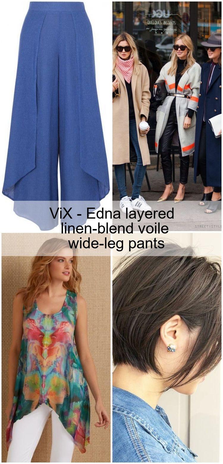 Photo of ViX – Edna en capas de lino de mezclilla pantalones anchos de pierna
