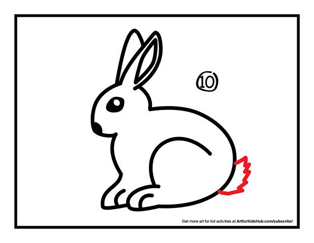 How To Draw A Rabbit - Art For Kids Hub - | Line Drawings ...